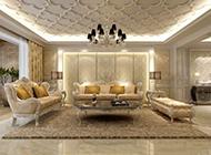 豪华欧式客厅装修图片华丽完美