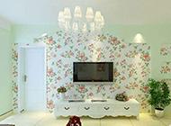 田园式客厅电视墙装修风格赏析