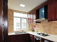 大户型新中式厨房装修效果图