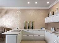 现代简约吧台式厨房装修效果图