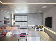 客厅美式工装设计装修效果图