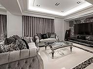 客厅电视背景墙大理石简约风格图片