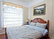 美式田园卧室装修风格清新明亮