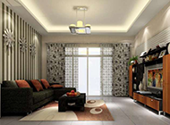 中式简约现代客厅装修效果图