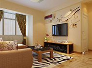 90平方欧式田园风格客厅装修图片