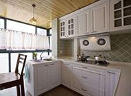 清新白色地中海厨房小户型装修效果图