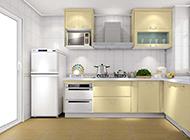 宽敞浪漫的小户型半开放式厨房装修图