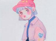 最新可爱手绘女生卡通头像