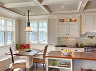 小清新纯白简欧厨房设计效果图
