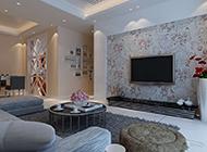 明亮温馨的简约客厅电视背景墙