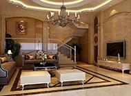 欧式客厅电视背景墙典雅大气