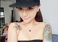 性感亚裔美女彩绘纹身图片赏析