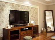 典雅小客厅背景墙设计效果图