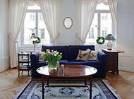 复式简欧客厅清新简洁设计效果图