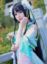 清纯少女玩转诛仙cosplay碧瑶