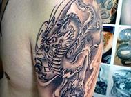 古神兽经典手臂貔貅纹身图案