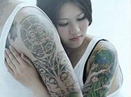 好看的情侣花臂纹身图案赏析