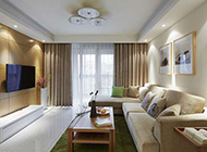 明亮温馨简欧客厅装修效果图