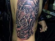 经典手臂貔貅纹身图案