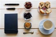 咸面包图片 咖啡面包笔记本图片