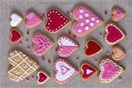 甜点图片 创意心形饼干甜点图片