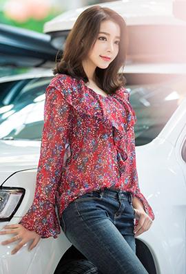 美女模特儿韩智妍养眼美照图片