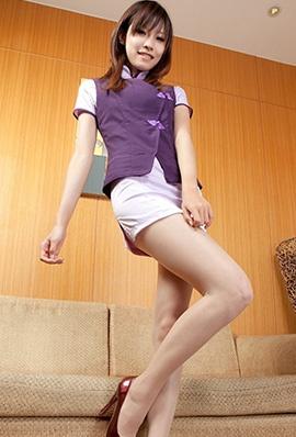 beautyleg美女腿模Abby制服短裙写真长腿迷人