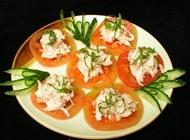 日式海藻沙拉图片 西红柿和金枪鱼沙拉日式韩式美食素材图片