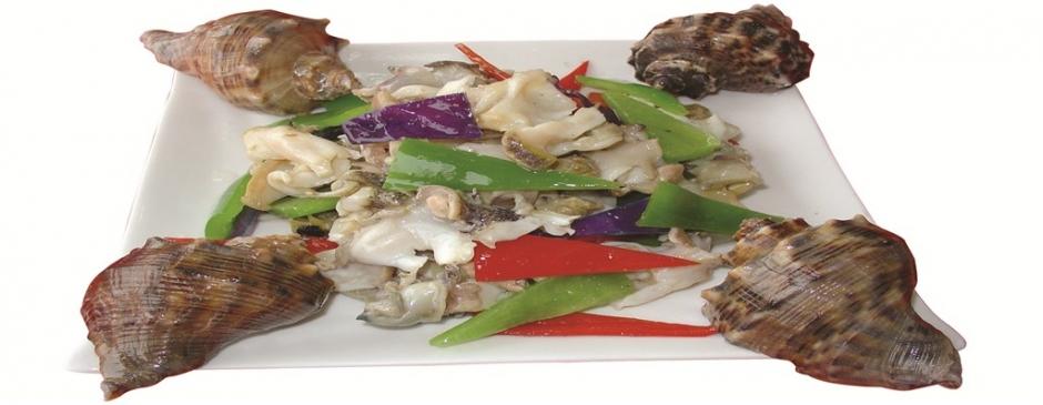 海螺片寿司图片 油爆海螺片中式菜品美食素材图片