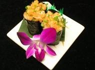 韩式寿司图片大全 香葱三文鱼寿司韩式美食图片