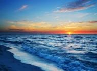 大海唯美晚霞风景图片桌面壁纸下载