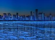 六盘水夜景高清图片 蓝色港湾夜景拍摄图片高清电脑壁纸