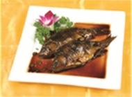 酥鲫鱼中式菜品美食素材图片