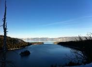 高山上的雪景图片 高山上的太浩湖图片欣赏