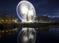 美丽夜景高清图片素材 美丽利物浦夜景摩天轮钟楼高清壁纸