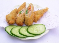 猪肉蔬菜卷日式韩式美食素材图片
