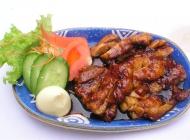 汁煎鸡肉日式韩式美食素材图片