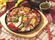 铁板猪杂中式菜品美食素材图片