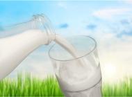 新鲜的牛奶与户外美景特写