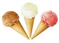 美食系列 - 清新美味的三色雪糕甜筒