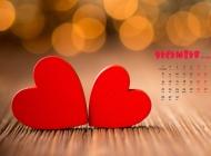 2014年12月日历壁纸精美的非主流浪漫爱心图片素材下载