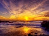 夕阳对海的眷恋