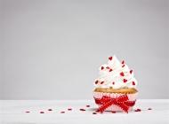 甜蜜蛋糕图片 甜蜜的奶油杯子蛋糕