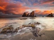 海边黄昏图片 海边夕阳黄昏炫彩高清电脑桌面壁纸