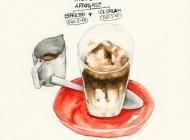 咖啡图片大全 咖啡面包素材高琴图片