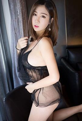 美女模特茉莉白黑丝情趣写真翘臀诱人