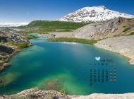 2015年11月日历平静的湖面高清壁纸1下载