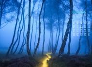 2015年2月日历壁纸精选清新大自然唯美好看的蓝色风景素材图片