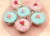 粉色蛋糕图片 大爱粉色翻糖蛋糕