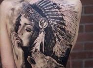 满背狼纹身 满背狼头纹身图案